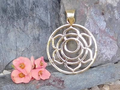 Lotus Moon Pendant by Avashy