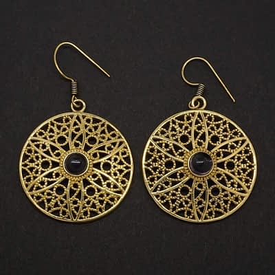 amethyst earrings filigree flower mandala
