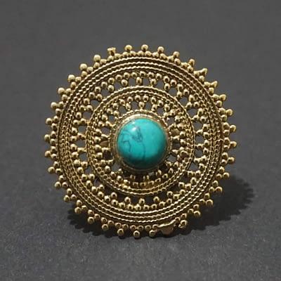 turquoise mandala ring
