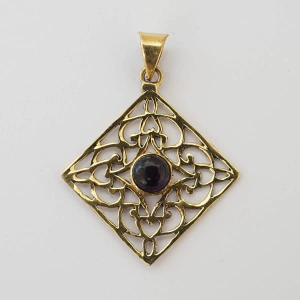 Amethyst Pendant Flower Mandala