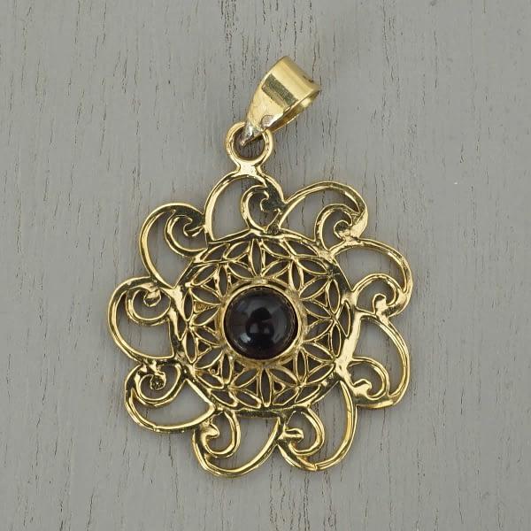 amethyst flower of life pendant spirals