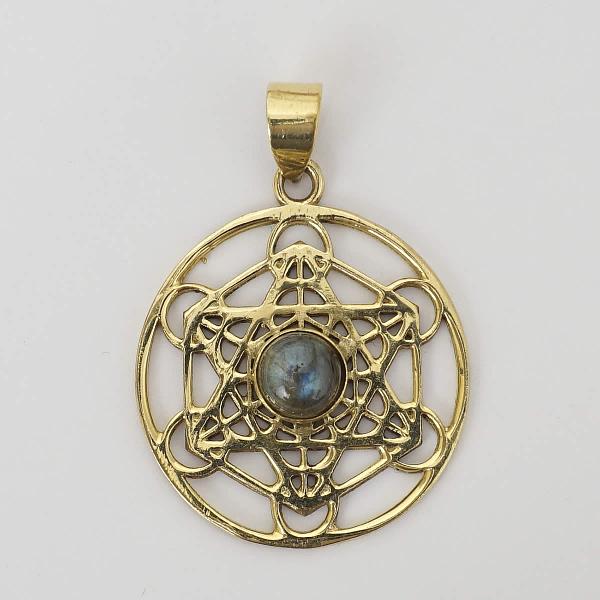 labradorite shatkona pendant