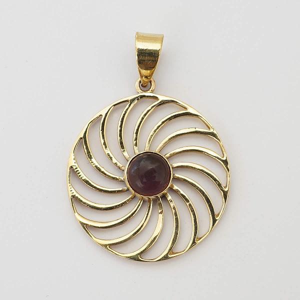 amethyst pendant spiral mandala