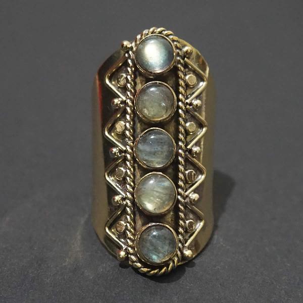 labradorite ring finger sleeve