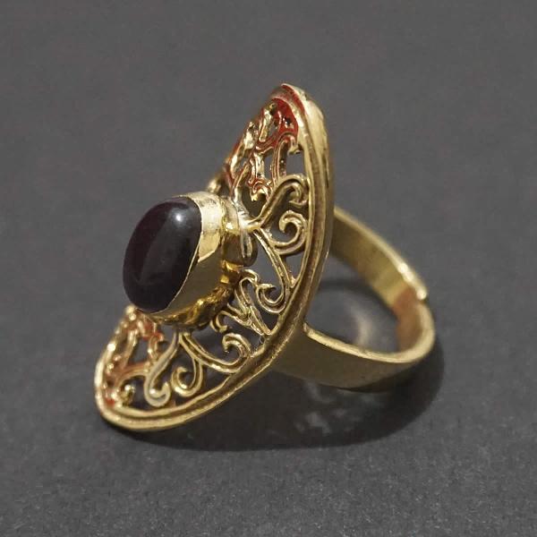 amethyst ring folk art mandala