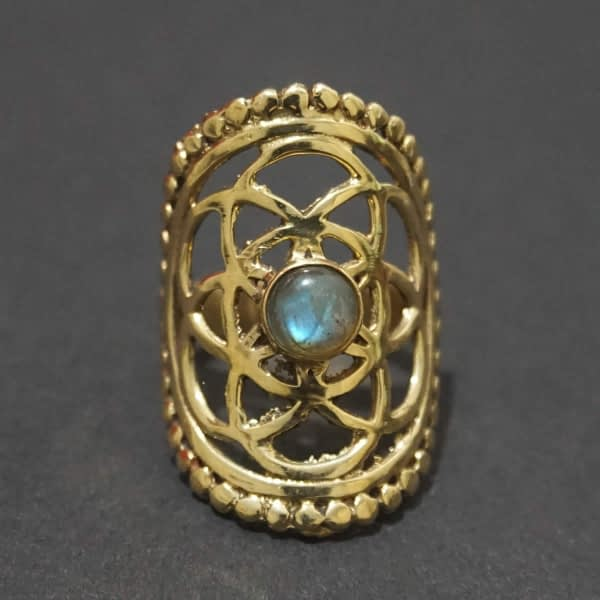 labradorite seed of life ring