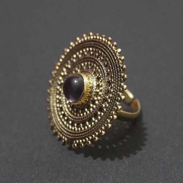 amethyst mandala ring